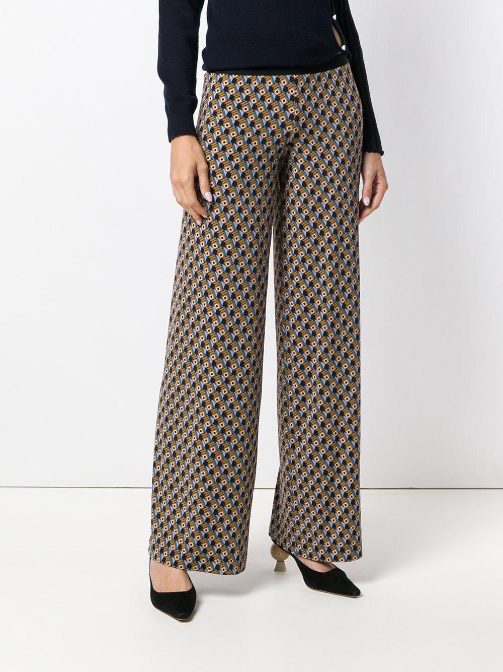 Pantalon Droits D'impression Géométriques - Multicolor Siyu 4a3Edm