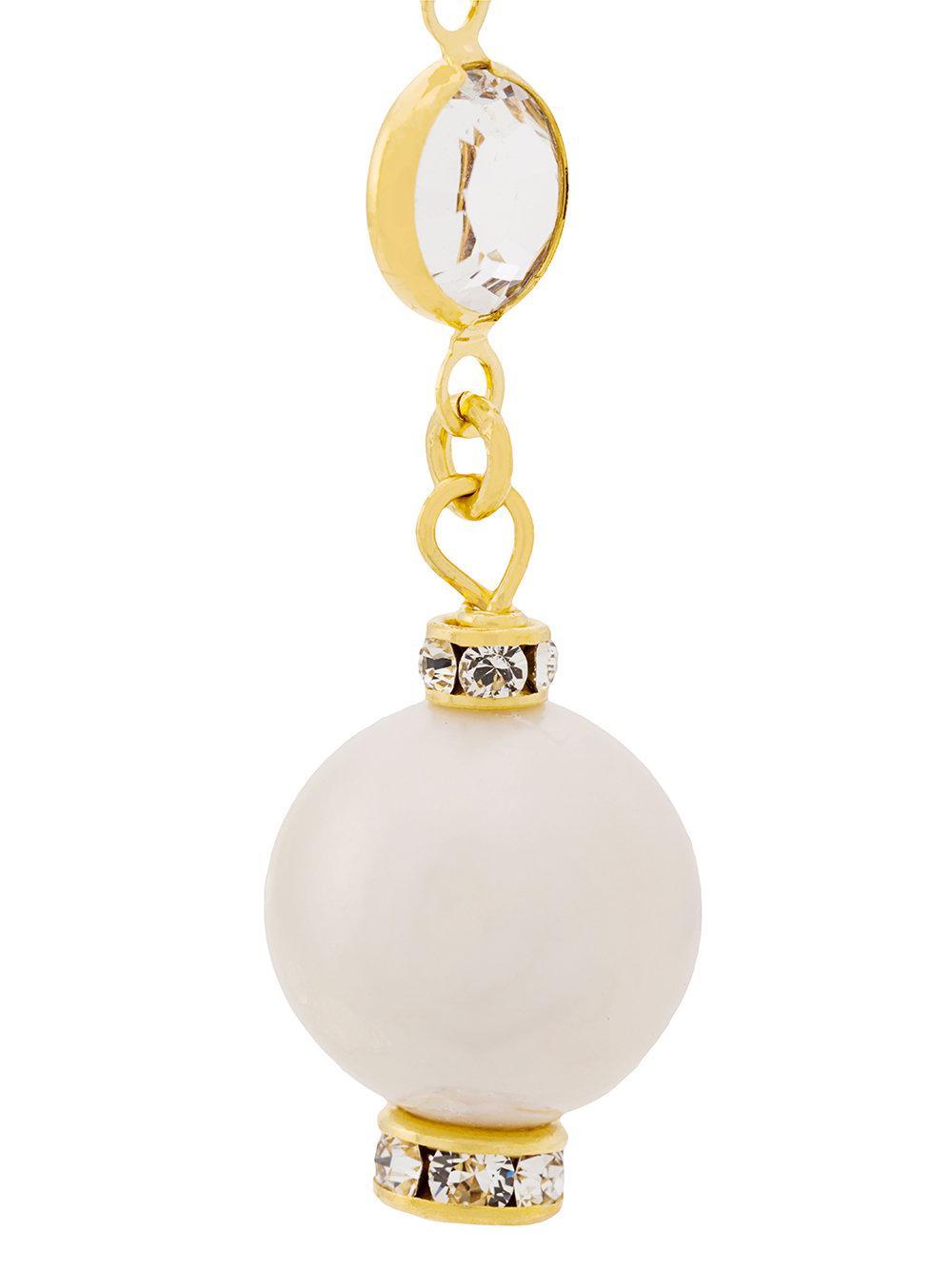 Magda Butrym pearl detail earrings - Yellow & Orange 9v5lcrF