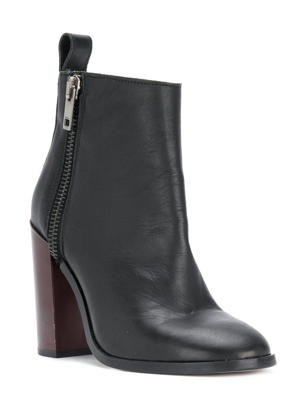 Diesel Zip heeled ankle boots CZg7h0z