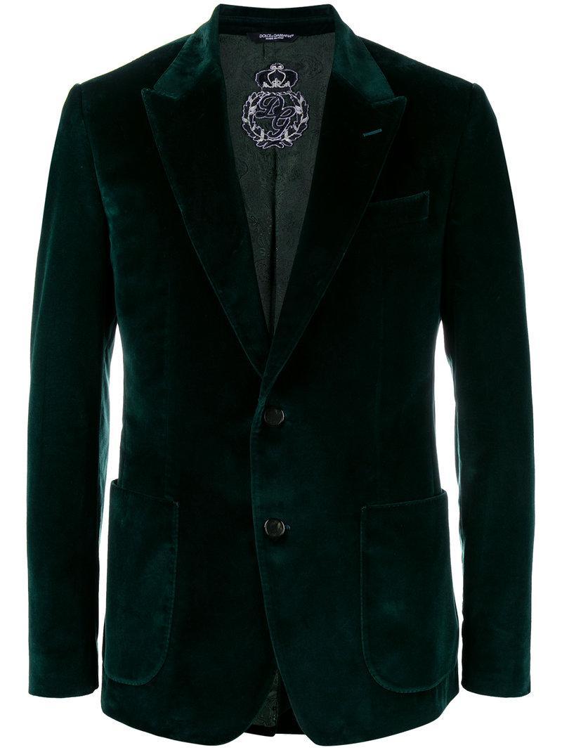 Dolce & Gabbana. Men's Emerald Green Velvet Blazer