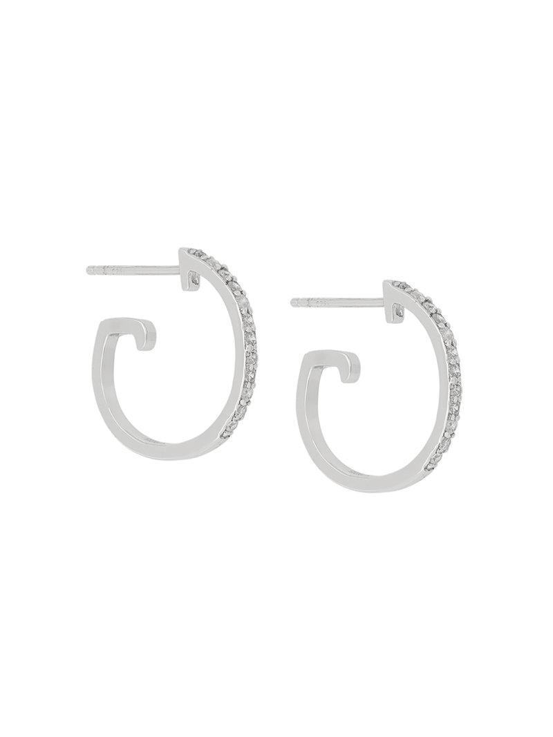 V JEWELLERY Maxi hoop earrings - Metallic hrLu0HPW6b