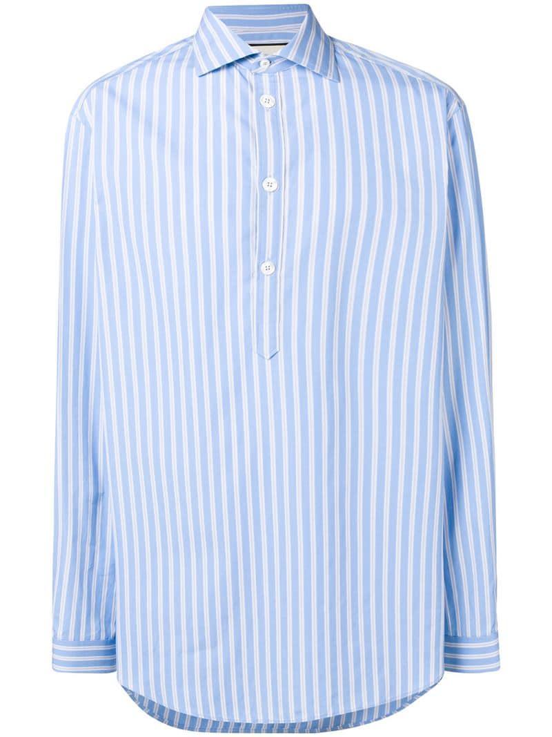 c4cabd5e16c Lyst - Chemise à rayures Gucci pour homme en coloris Bleu