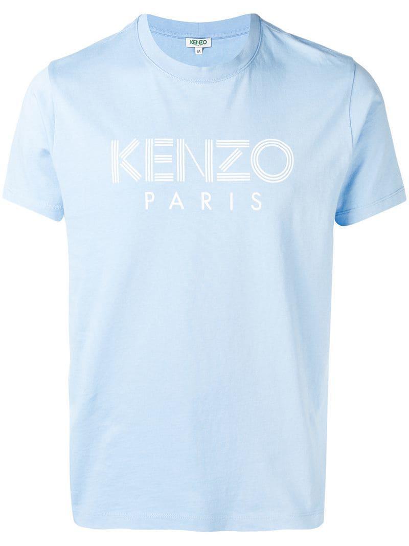 5206c6bf KENZO - Blue Logo Print T-shirt for Men - Lyst. View fullscreen