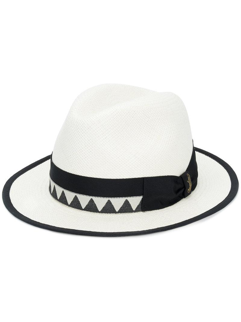 Borsalino Boho Panama Hat in White for Men - Lyst 096b7e4f0eb8