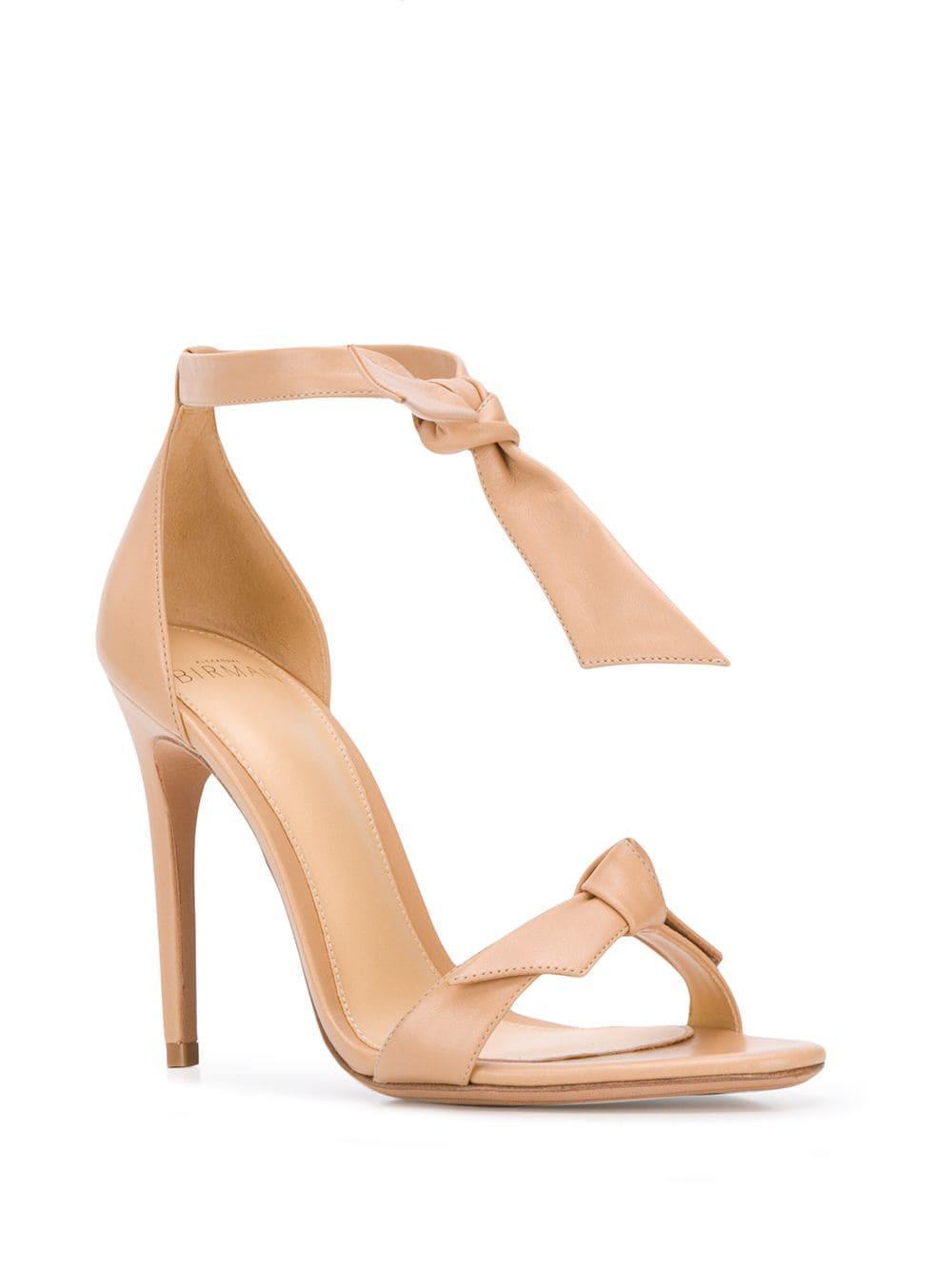 3ecfee079bd6 Lyst - Alexandre Birman Bow Tie Stiletto Sandals in Natural