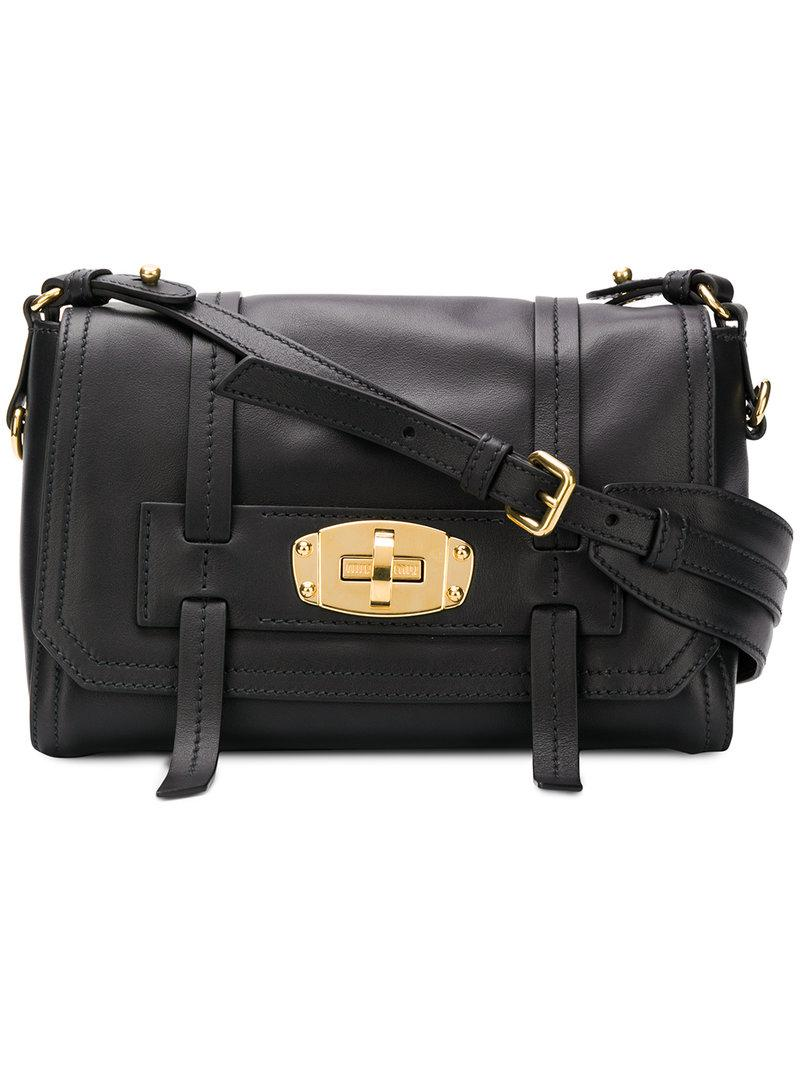 c4e7082aab57 Miu Miu Satchel Bag in Black - Lyst