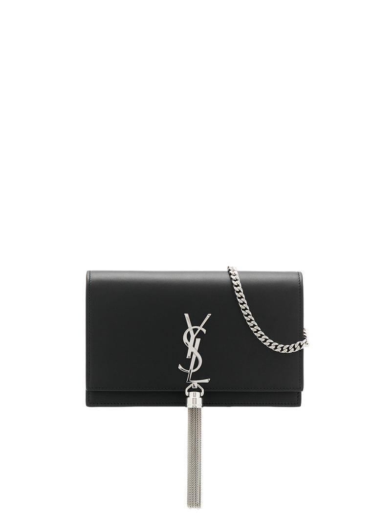 5d15443be798 Lyst - Saint Laurent Kate Cross Body Bag in Black