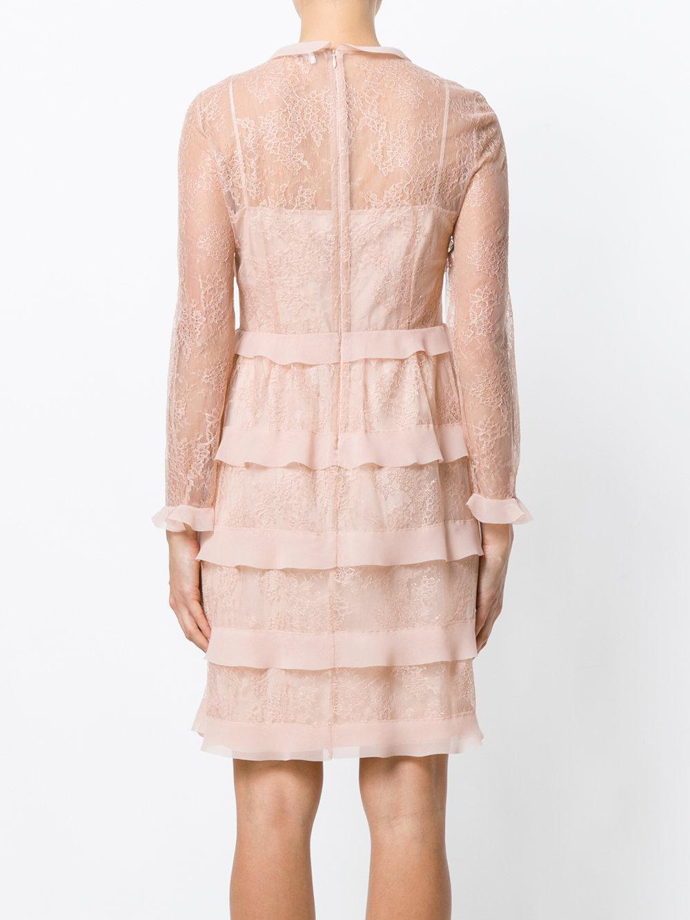tiered lace dress - Nude & Neutrals Red Valentino ESgKQc