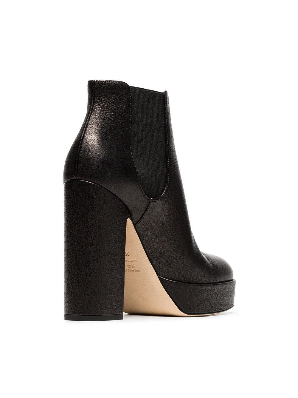 0e1cb241b07 Laurence Dacade - Black Rosa 120 Leather Platform Boots - Lyst. View  fullscreen