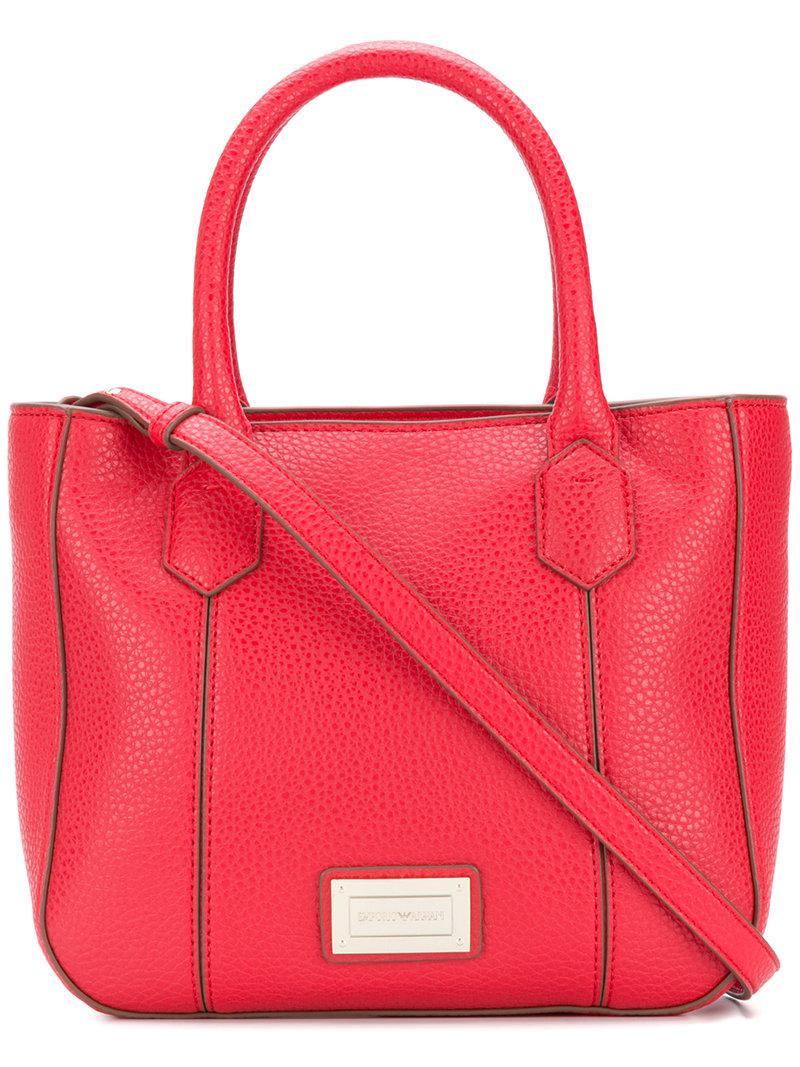 Lyst - Emporio Armani Mini Shoulder Bag in Red 0bf541d0c2afd