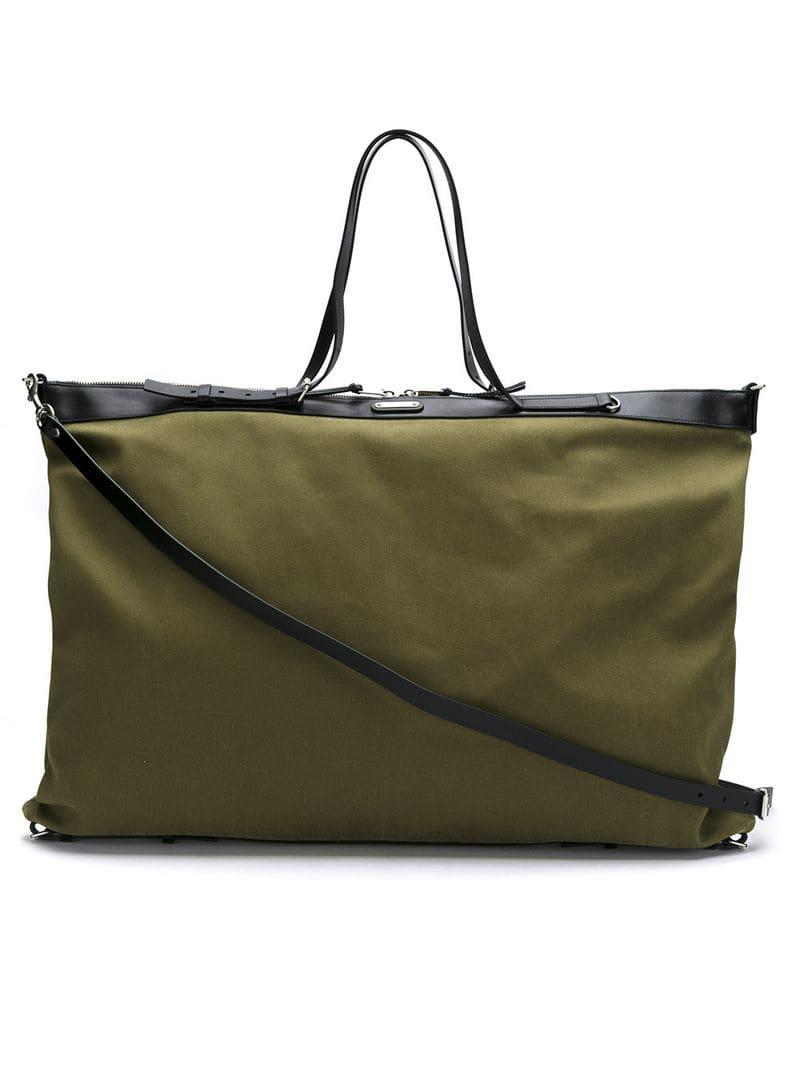 c23e7c7d152e Saint Laurent Id Tote Bag in Green for Men - Save 28.18911685994648 ...