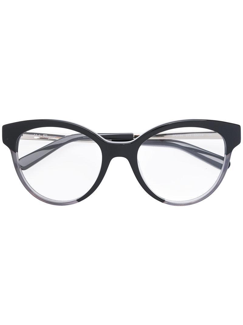 c57f0591ea2 Ferragamo Cat Eye-frame Optical Glasses in Black - Lyst