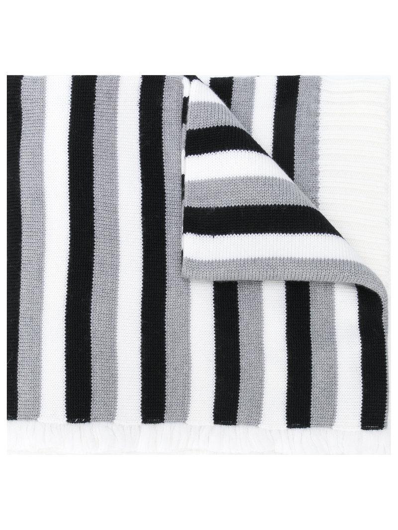 f9f4a5e268 Sonia Rykiel Long Striped Scarf in Gray - Lyst