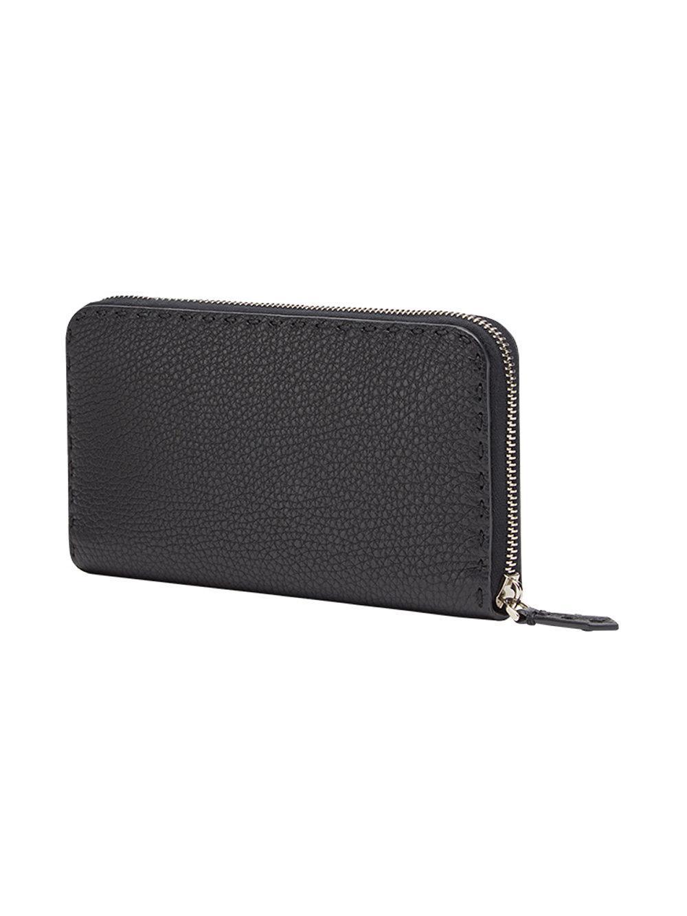 63cdfe5dd1a0 Fendi Selleria Continental Wallet in Black for Men - Lyst