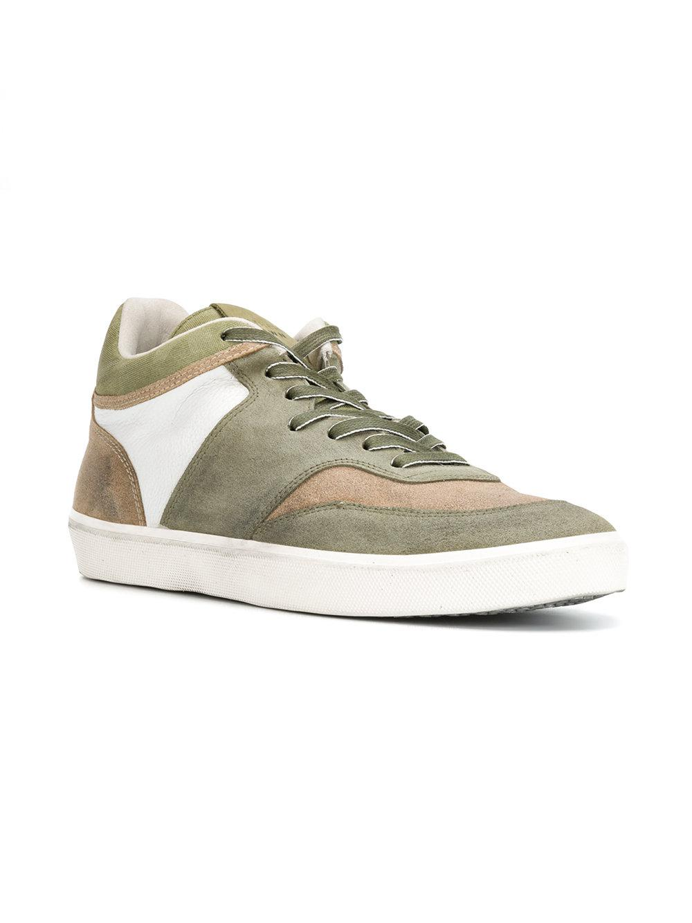 new concept 88dea 5bff5 leather-crown-Green-Mid-Top-Sneakers.jpeg