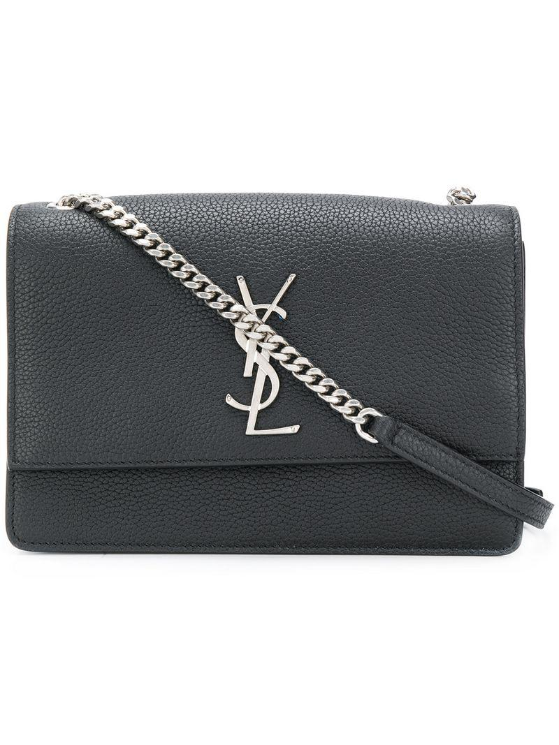 dba213016c Saint Laurent Monogram Kate Shoulder Bag in Black - Lyst