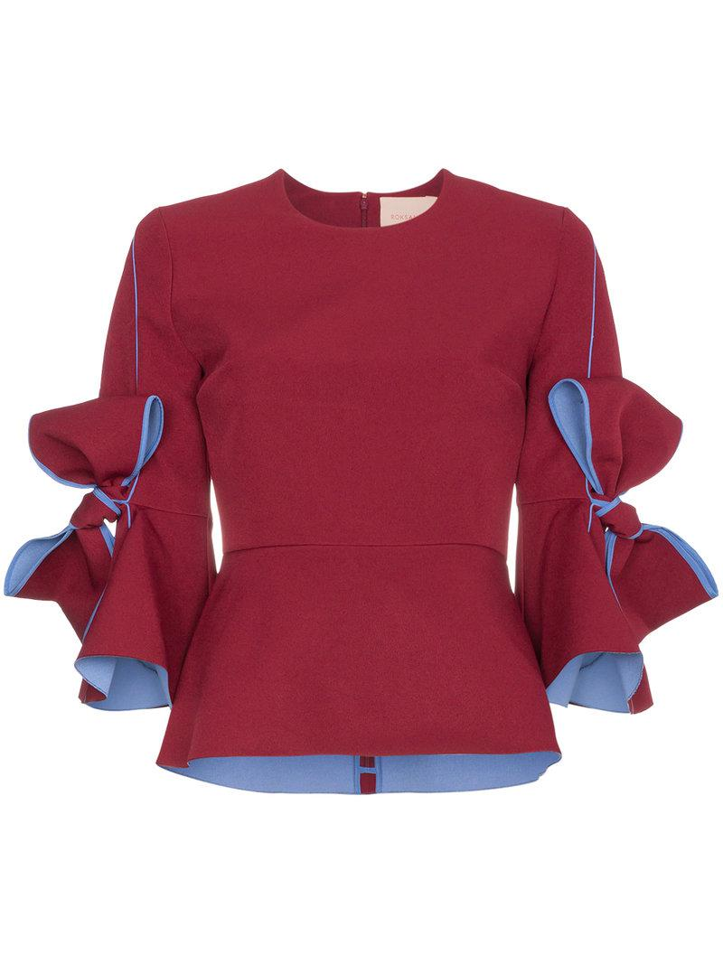 Nice Kemi bow-embellished bonded-crepe blouse Roksanda Ilincic Outlet Affordable Clearance Newest Discount Many Kinds Of Cheap Sast hBYPBmfk