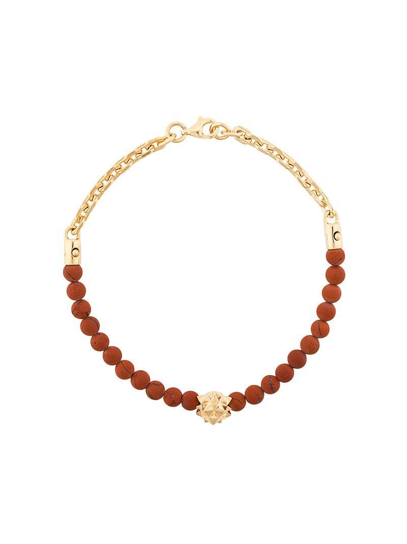 woven skull bracelet - Red Northskull TAvwqXu