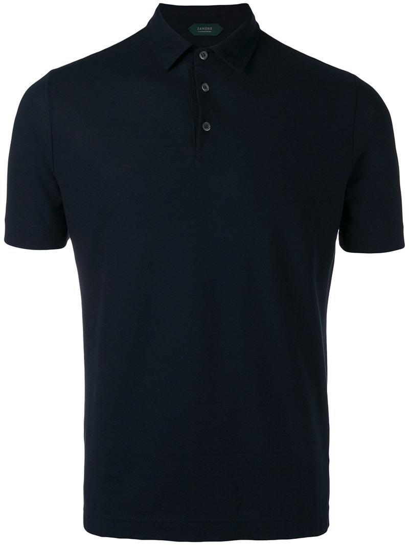 Lyst - Polo classique Zanone pour homme en coloris Noir 8fcbe131766