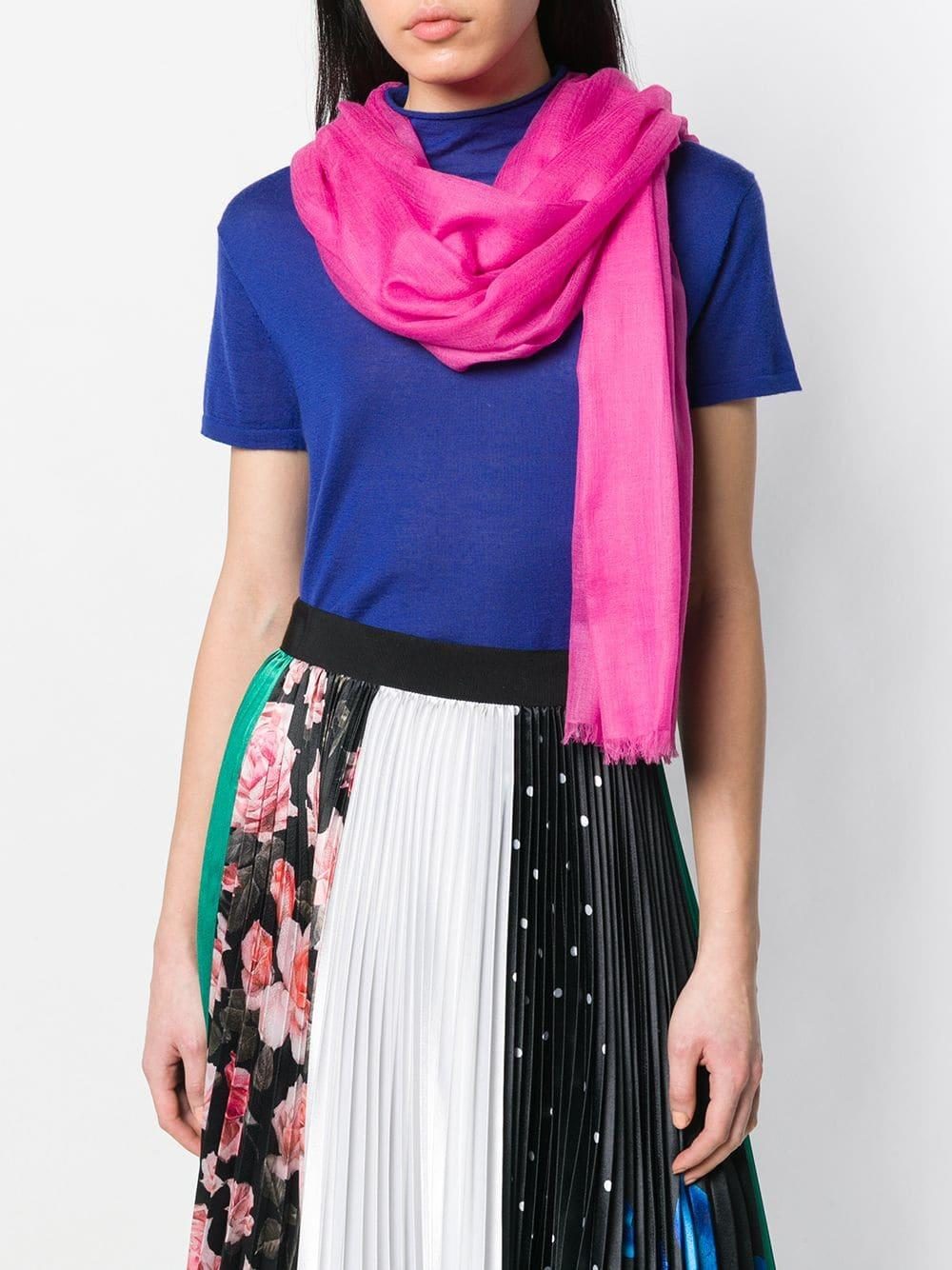 0268bc3fa N.Peal Cashmere Ultrafine Pashmina Shawl in Pink - Lyst
