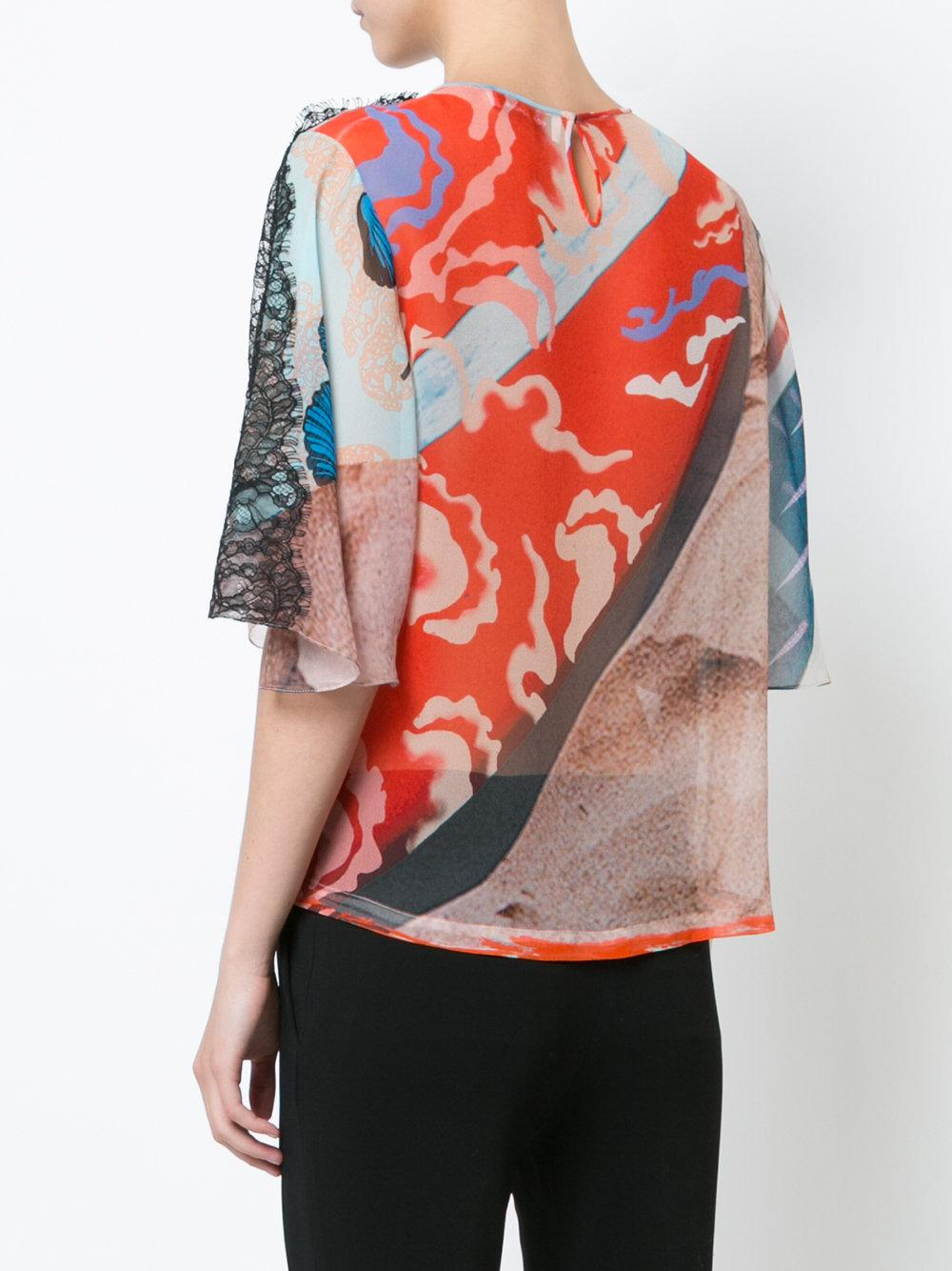 surfboard print blouse - Red Yigal AzrouËl Buy Cheap Lowest Price Geniue Stockist Online Sale Nicekicks Authentic Cheap Online kNdpAb