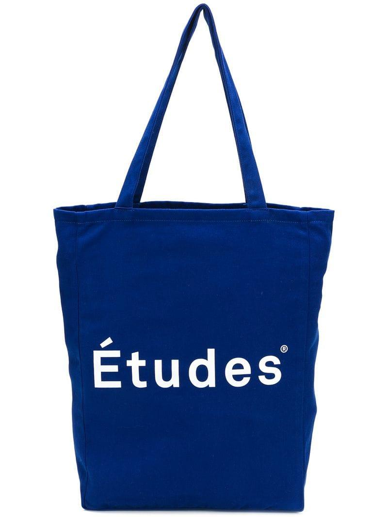 a811f75814fa Сумка-шоппер С Принтом Логотипа Etudes Studio для него, цвет: Синий ...