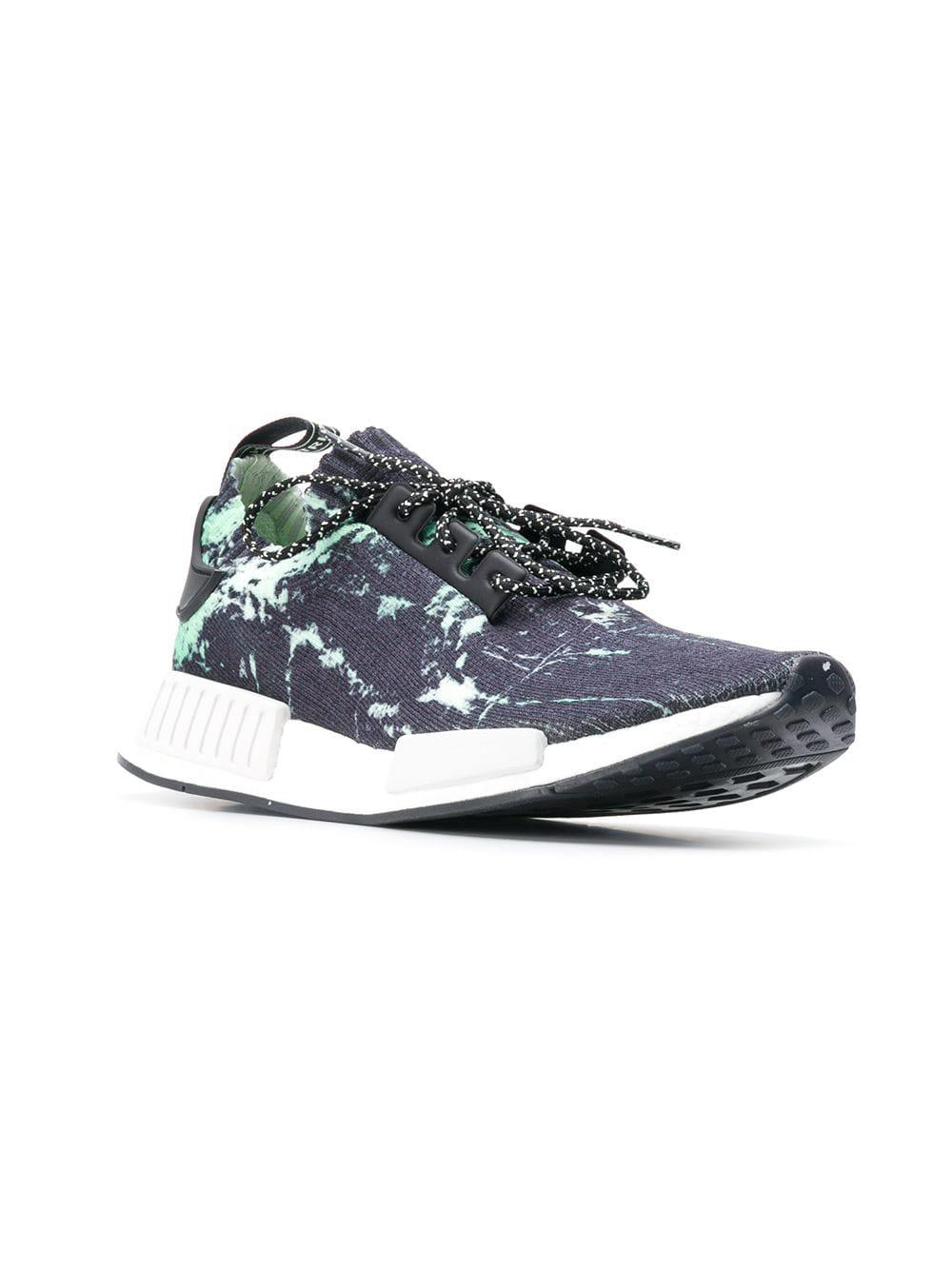 adidas Nmd R1 Marble Primeknit Sneakers in Blue for Men - Lyst 331f47f68