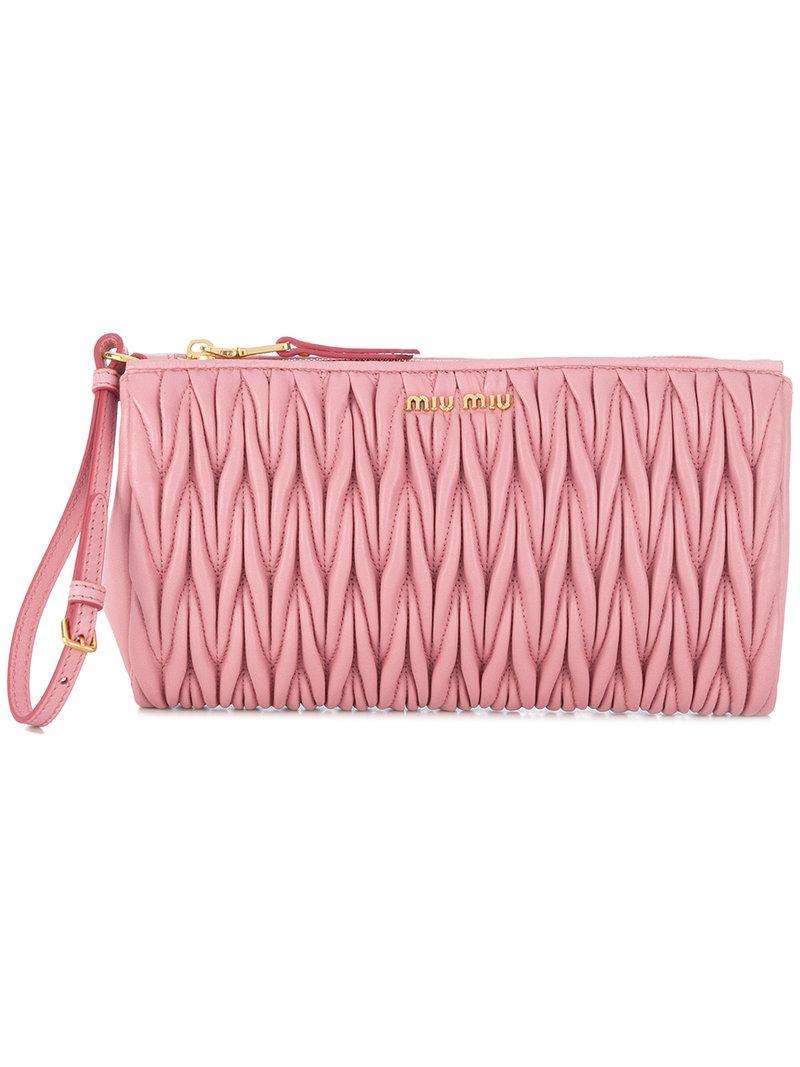 c8d741cc49d4 Miu Miu Matelasse Pink Bag