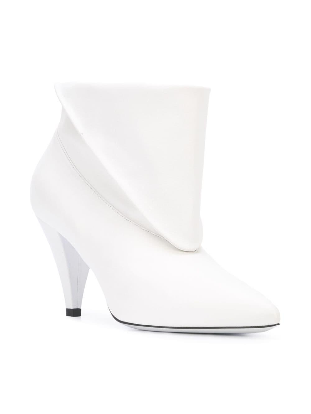 d5ace25f4941 Lyst - Givenchy Foldover Ankle Boots in White - Save 30%