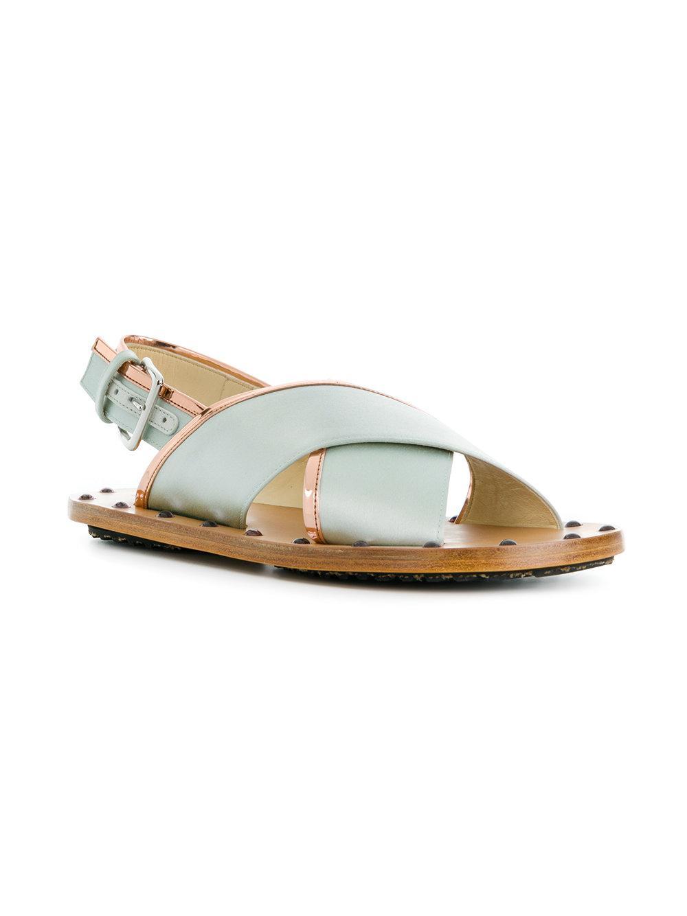 cross over strap sandals - Multicolour Marni 0RgvXub