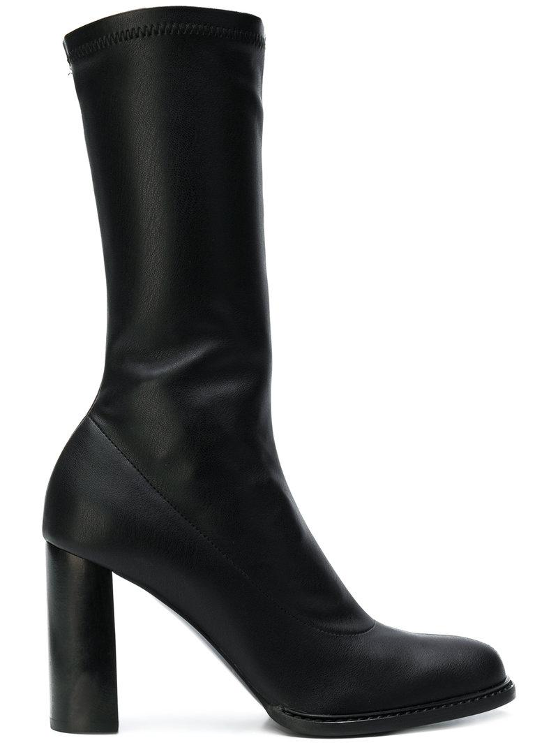 a6676d3086b Lyst - Stella McCartney Mid-calf Block Heel Boots in Black