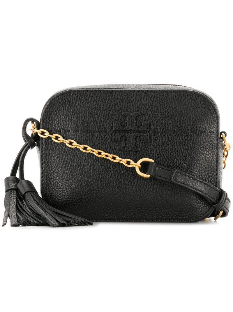 68ae40308ef2 Lyst - Tory Burch Mcgraw Cross Body Bag in Black