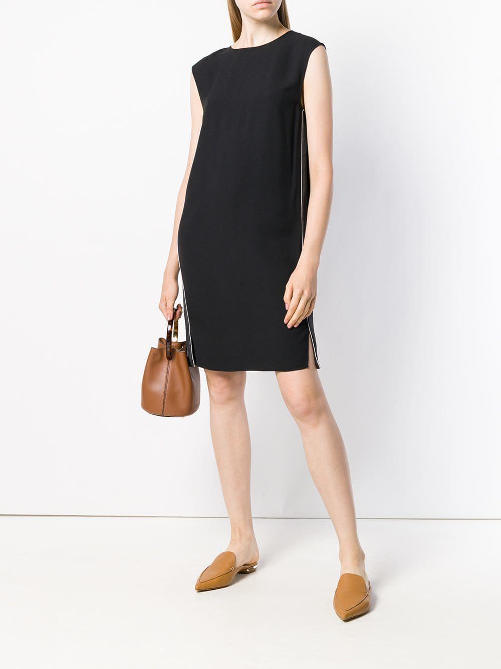 a7c7e3dc02 Theory Side-stripe Shift Dress in Black - Lyst