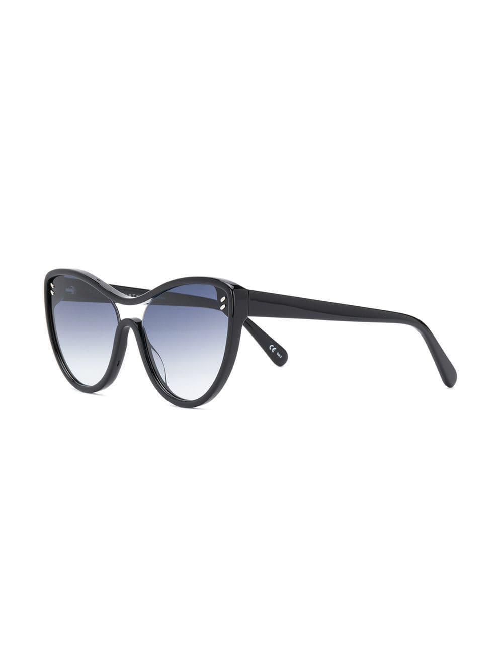 384fdc5f06 Stella McCartney - Black Cat-eye Frame Sunglasses - Lyst. View fullscreen