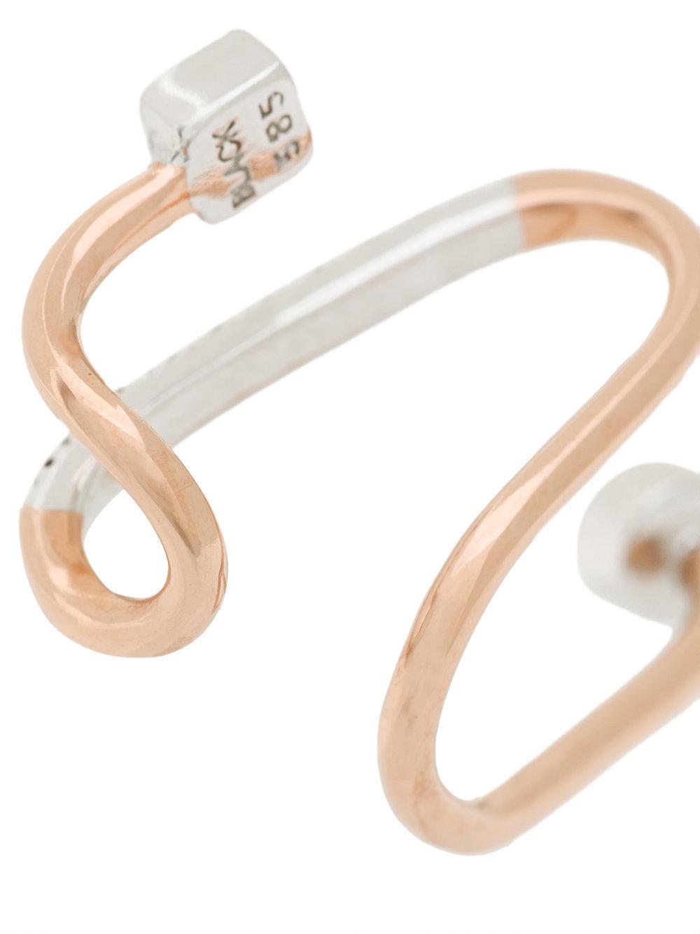 Maria Black 14kt rose gold diamond & sapphire Avery earcuff - Metallic qmt8uxsKCx