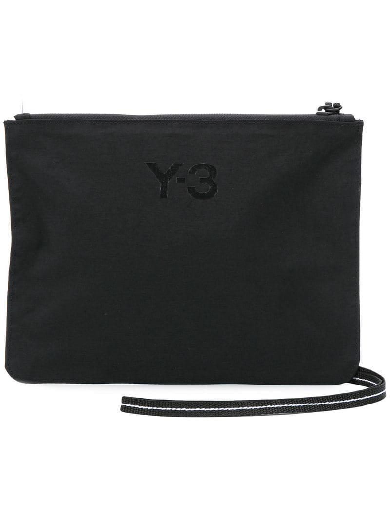 1f82d8f46bd7 Lyst - Y-3 Logo Clutch Bag in Black for Men