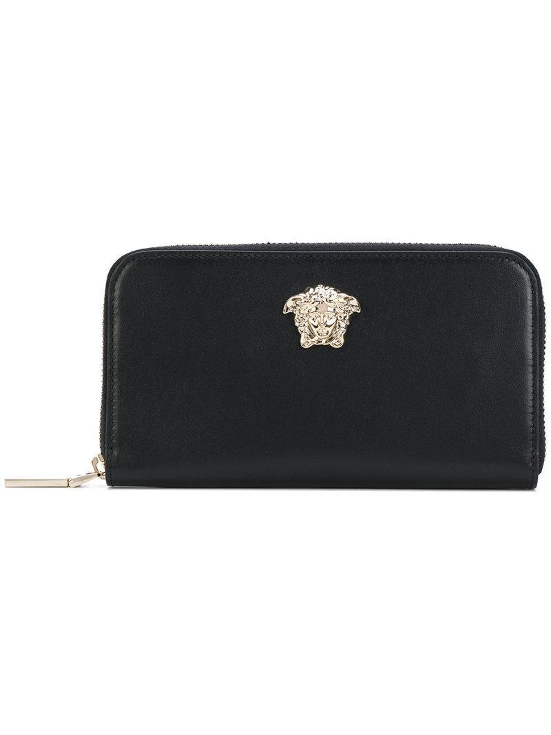 Medusa zipped wallet - Black Versace ADMAIncY