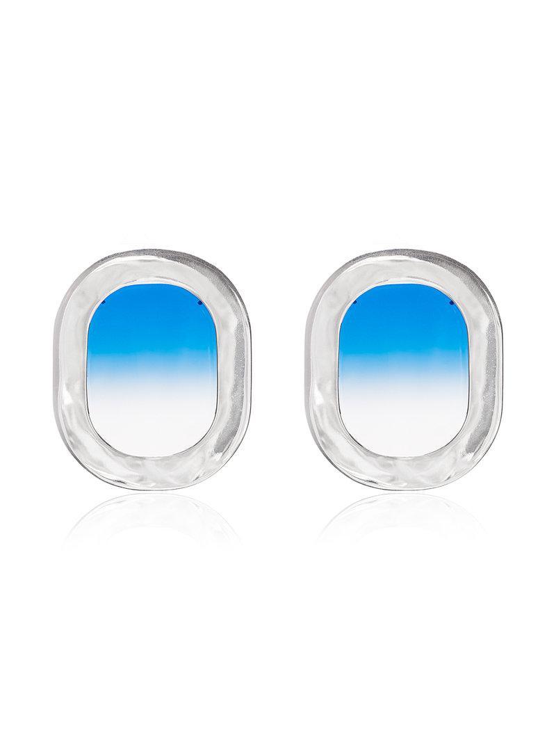 All_Blues blue 925 Sterling Silver Airplane Window Earrings p7k2bbzuad