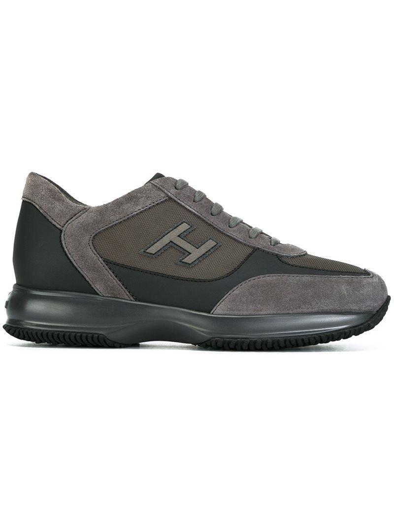 Interactive grey sneakers Hogan BfyowXiVX