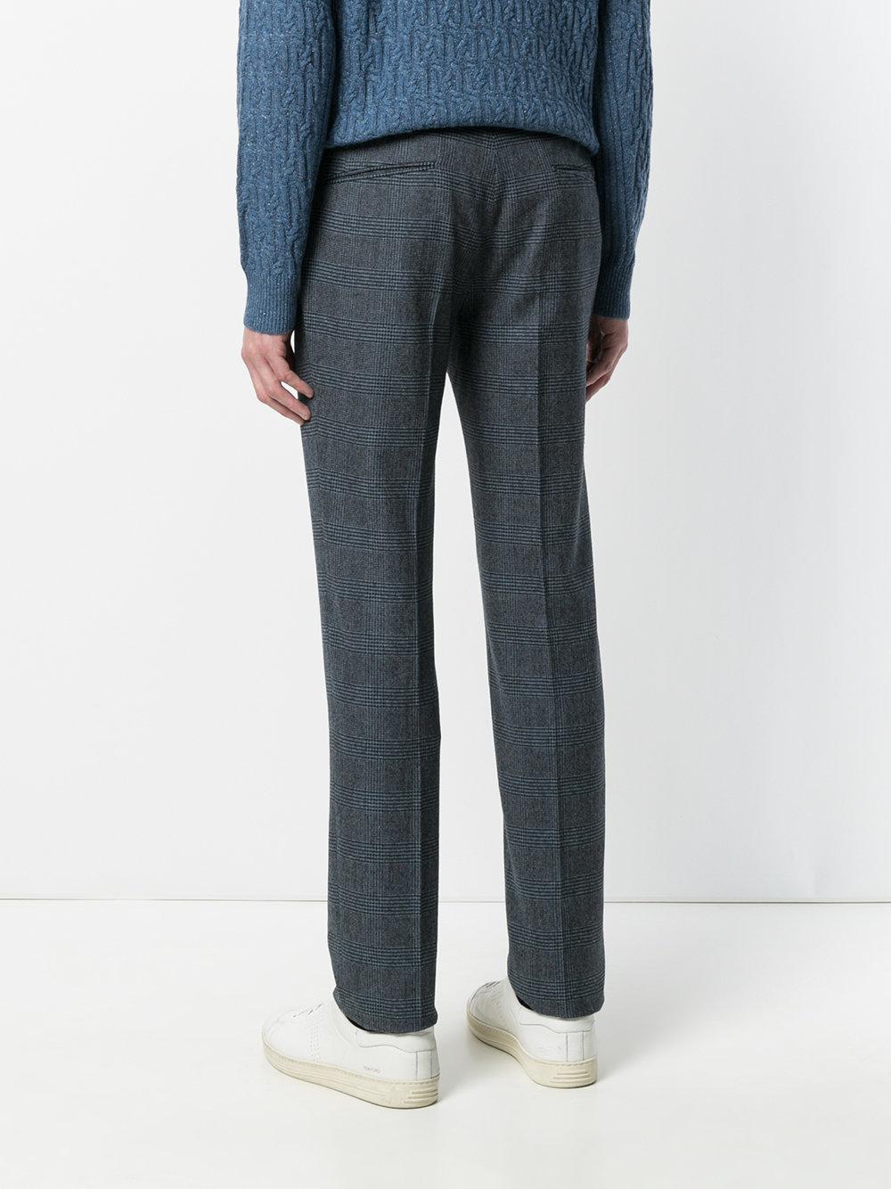 pantalones Plaid Blue hombres para Incotex Print Lyst wnZOqnxC