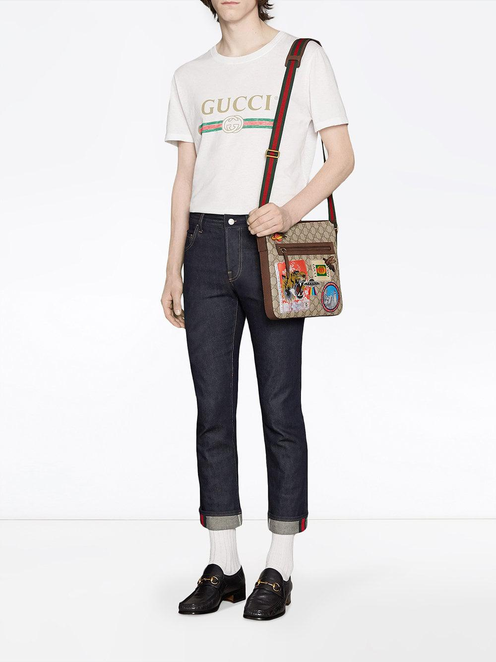 6d709799fbe Lyst - Gucci Courrier Soft GG Supreme Messenger for Men - Save 12%
