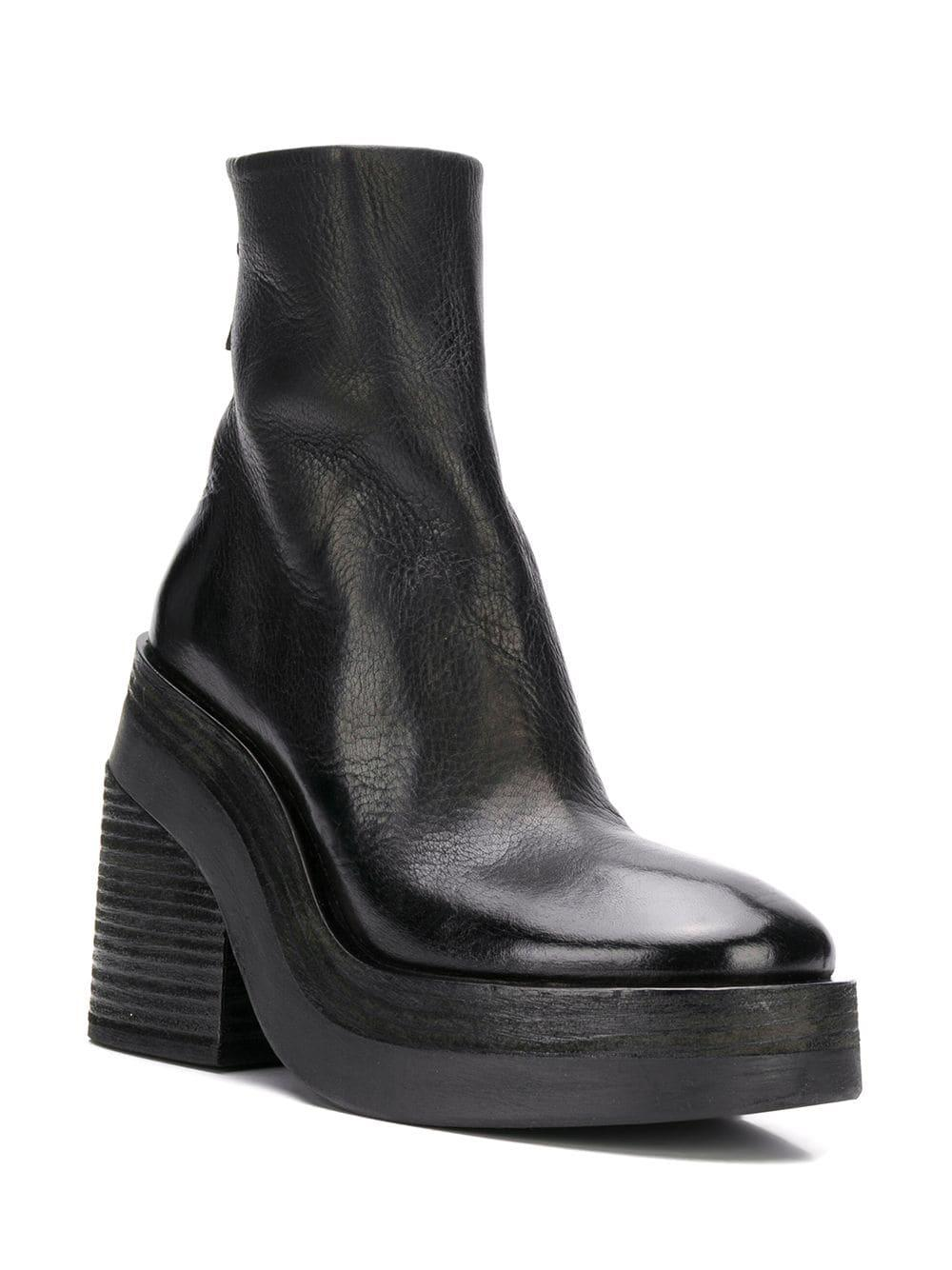 41e40741a2f30 Lyst - Marsèll Platform Ankle Boots in Black