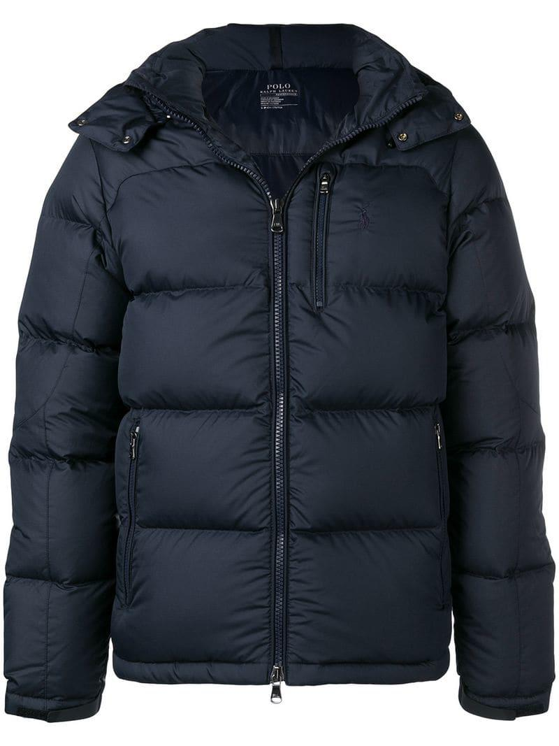 6fb168949cc9 Lyst - Polo Ralph Lauren Hooded Padded Jacket in Blue for Men