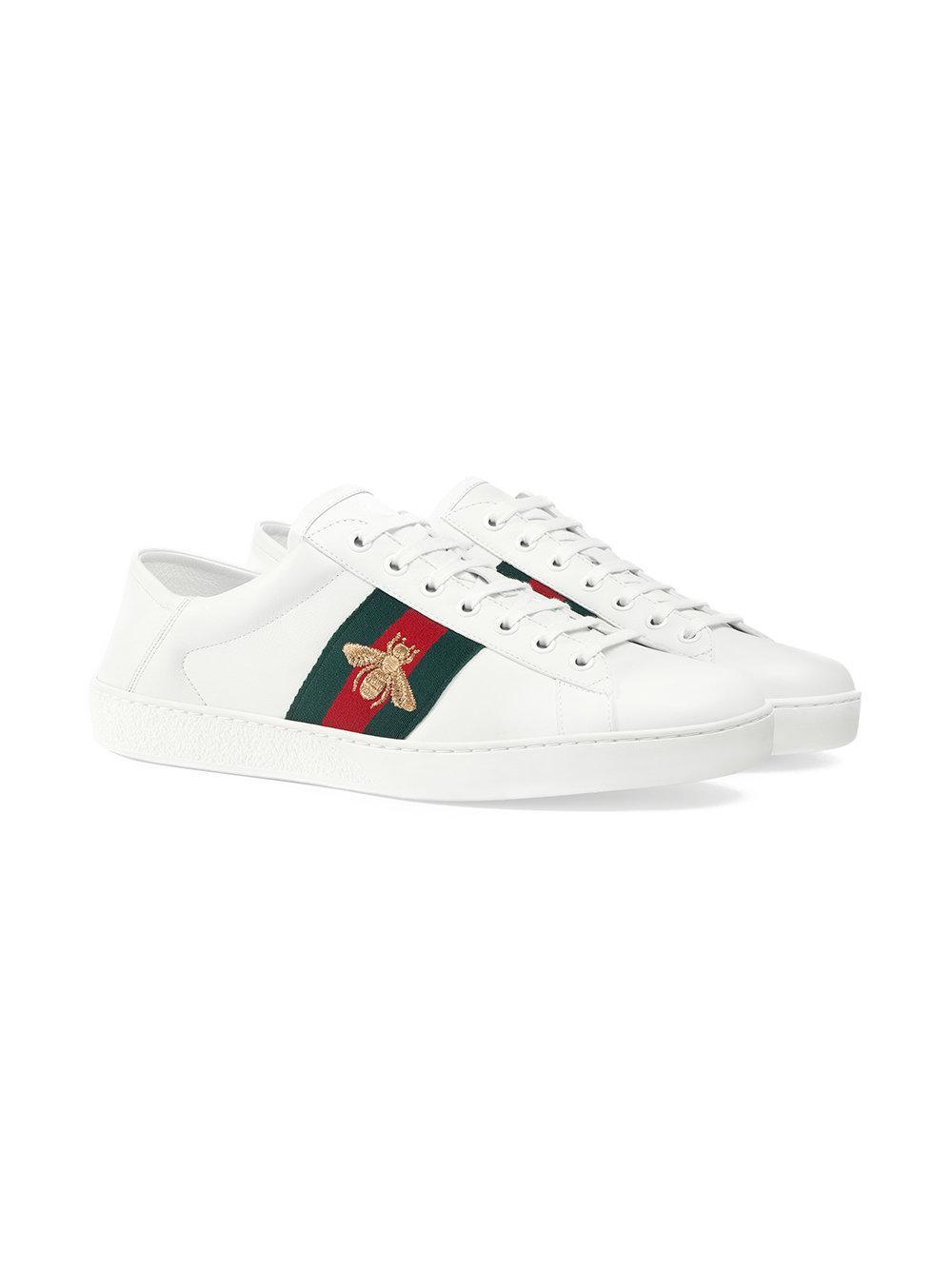 cd05b5e93 Gucci Ace Sneaker in White for Men - Lyst