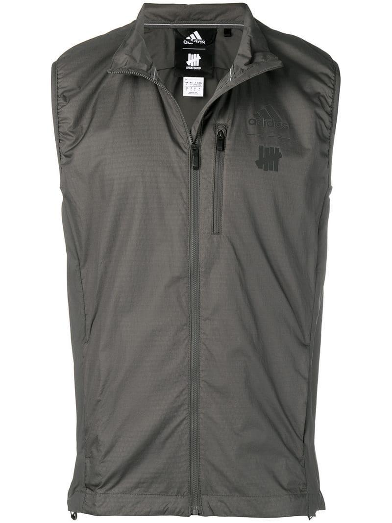 lowest price b64cf 6a695 Adidas - Gray X Undefeated Running Vest for Men - Lyst. View fullscreen