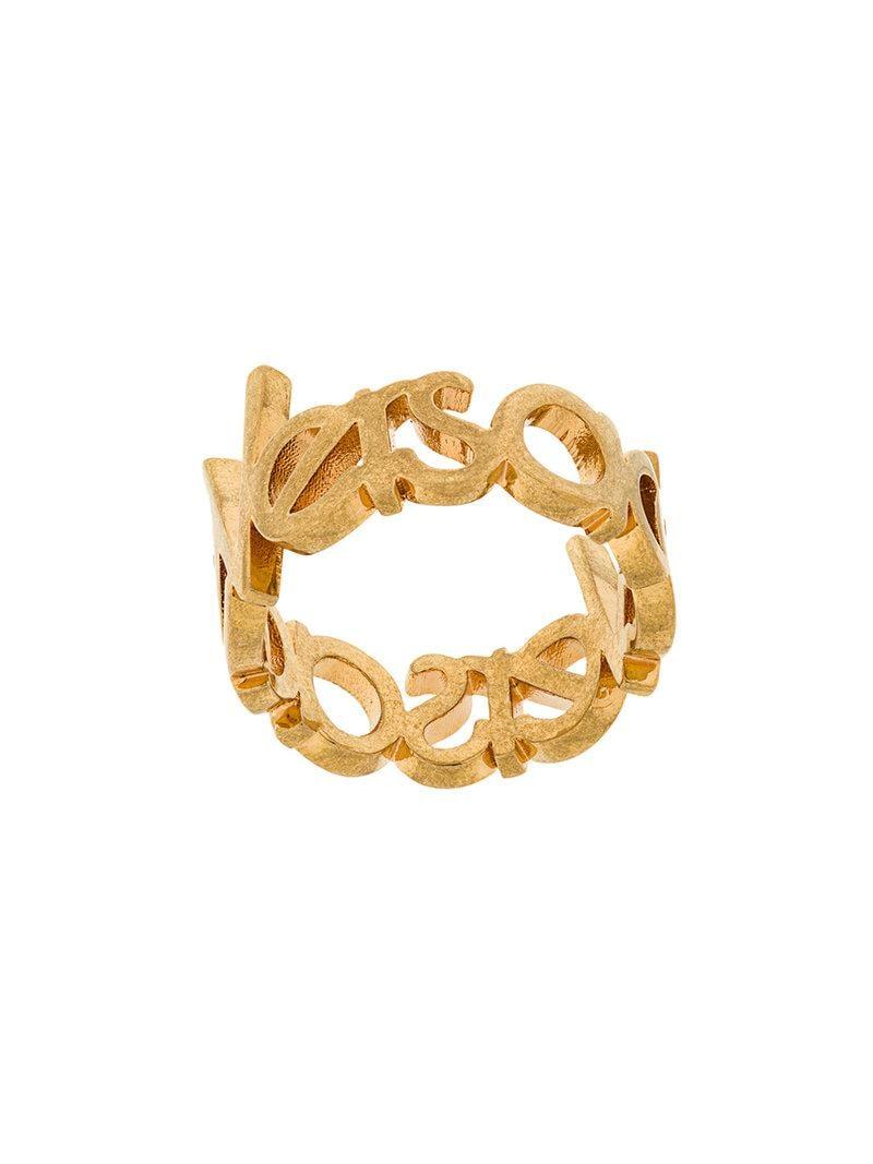 Versace logo ring - Metallic tfQig
