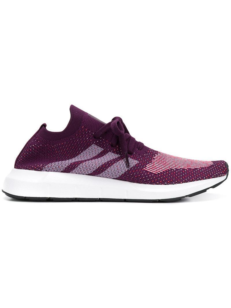 lyst adidas originali swift run primeknit scarpe viola per gli uomini.