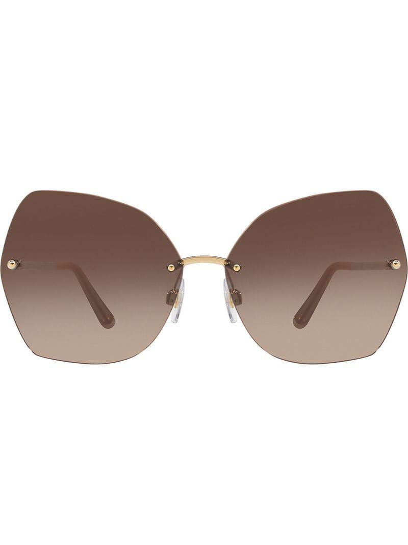 74dc2b43a65 Dolce   Gabbana Butterfly Sunglasses With Metal Details in Metallic ...