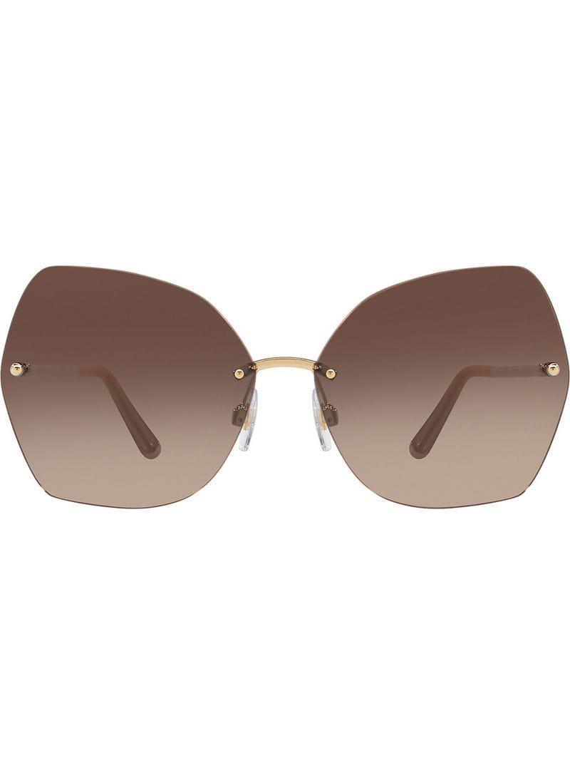 9be40a9aeea Dolce   Gabbana Oversized Sunglasses in Metallic - Save ...