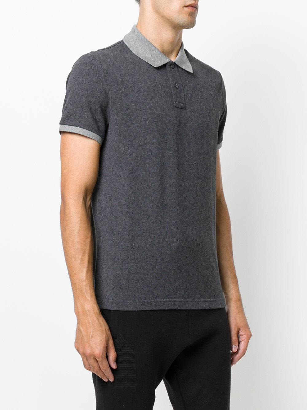 dd0d04bd7f65 Lyst - Moncler Contrast Polo Shirt in Gray for Men